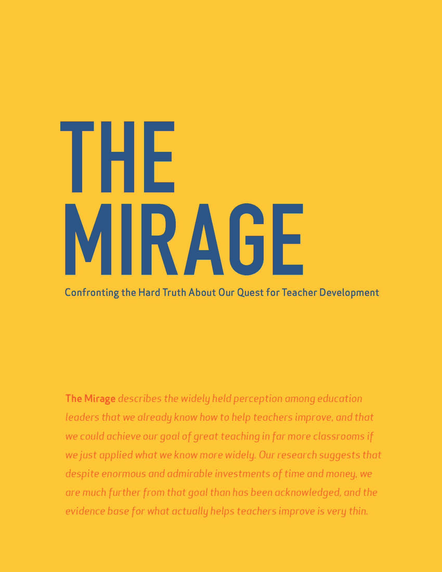 the mirage tntp report